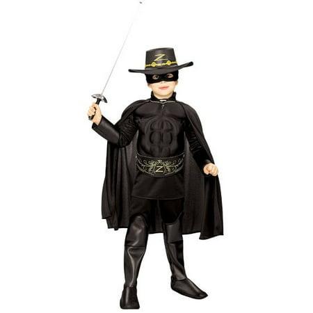 Zorro Muscle Chest Deluxe Costume - Deluxe Zorro Costume