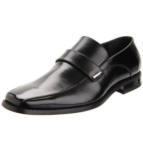 Stacy Adams DARBY Black Leather Slip On Dress Shoes (Medium (D, M),9.5,Black) by