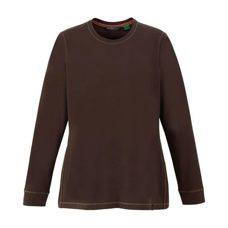 - North End Sport Red 78634 Ladies Organic Cotton Spandex Jersey Long Sleeve Crew Fitness Shirt