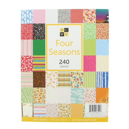 american crafts 8 5 x 11 four seasons paper stack stationery
