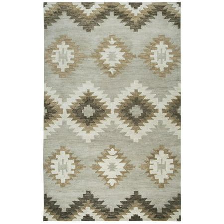 Rizzy Home LO008A Gray 12' x 15' Hand-Tufted Area Rug (Area Rugs 15 By 12)