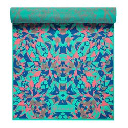 Gaiam Premium Print Reversible Yoga Mat, Reversible Kaleidoscope, 6mm