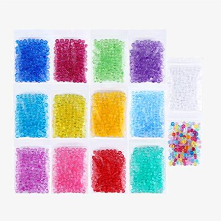 Plastic Beads (Fishbowl Beads Slime Fish Bowl - 14 Pack Vase Filler Beads 0.28 inch Plastic Slushy Fish Balls Crunchy Slime Slushee Fishballs Kit for DIY Homemade Arts Crafts Decoration Slushie Clear,)