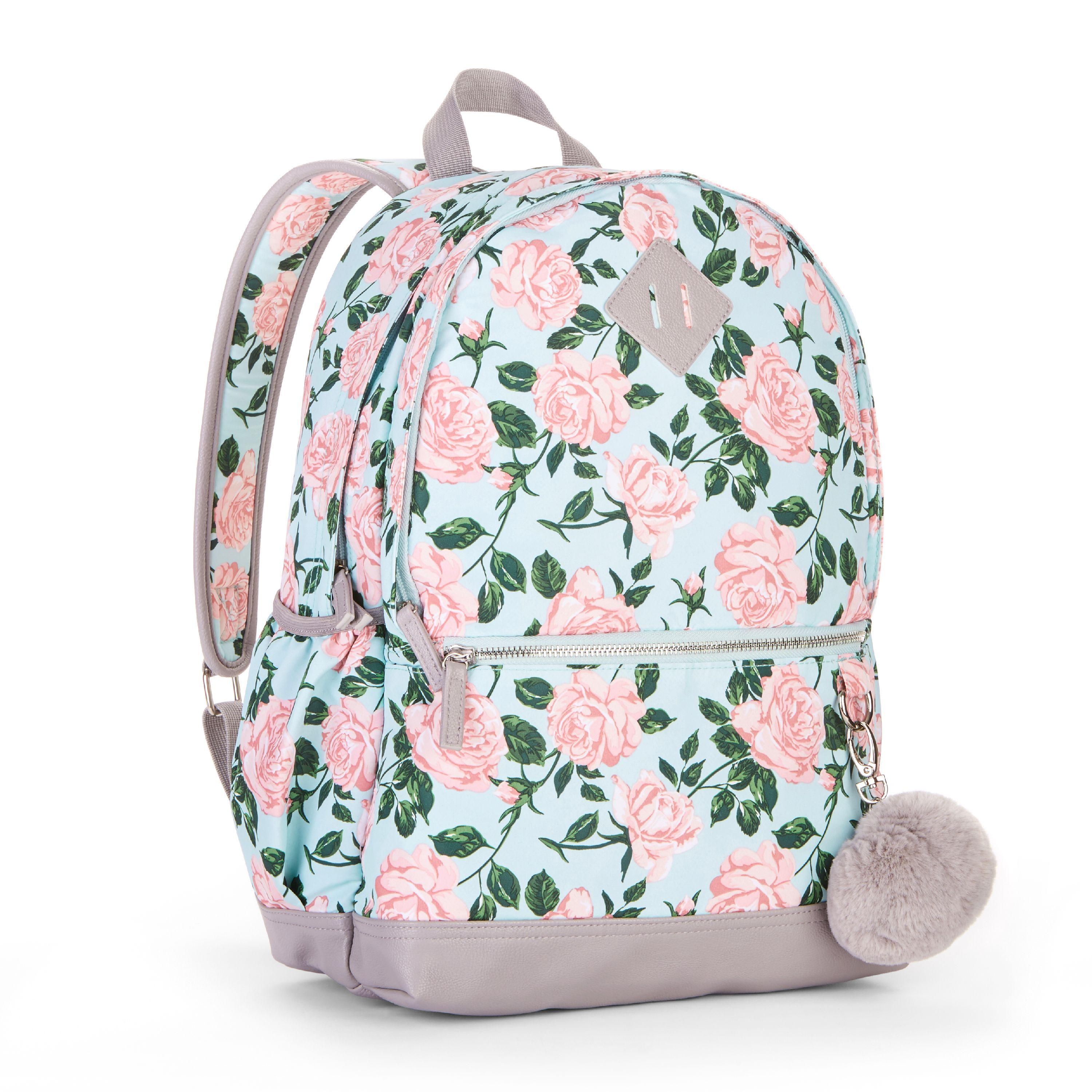 No Boundaries Mint Floral Dome Backpack