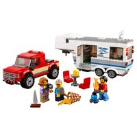 Lego City Great Vehicles Pickup & Caravan Building Kit (344 Pc)