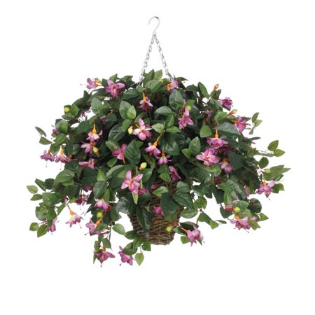 House of silk flowers inc artificial fuchsia hanging plant in house of silk flowers inc artificial fuchsia hanging plant in square basket mightylinksfo