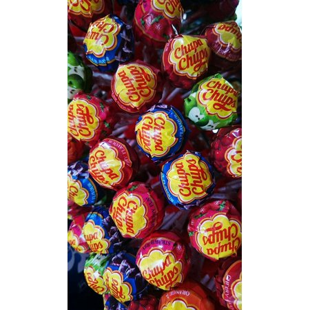 LAMINATED POSTER Lollipop Candy Sweet Chupa Chups Stick Poster Print 24 x