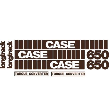 Whole Machine Longtrack Torque Converter Decal Set for Case Crawler Dozer 650