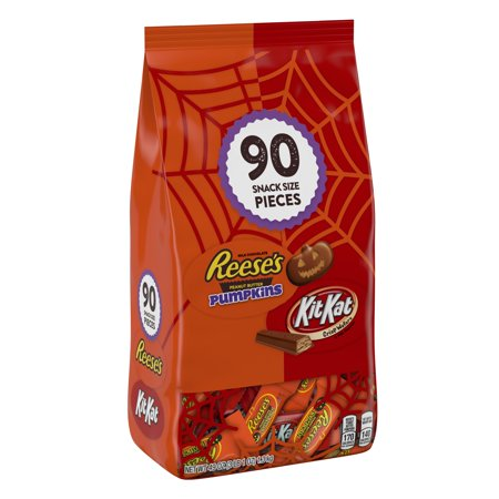 Reese's & Kit Kat, Halloween Candy, Chocolate Snack Size Assortment, 49 Oz, 90 Ct