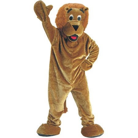 Roaring Lion Mascot Adult Halloween Costume - Adult Lion Costume