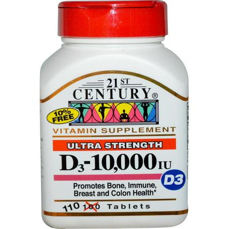 Image of 21st Century Century Ultra Strength D3-10,000 IU, 110 ea