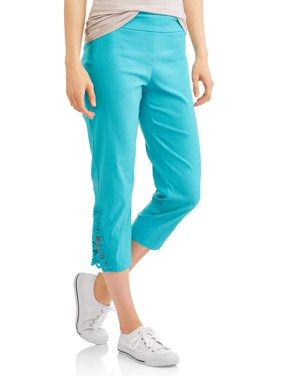 c7942fade4d Product Image Women's Pull On Capri Pants with Lace Detail