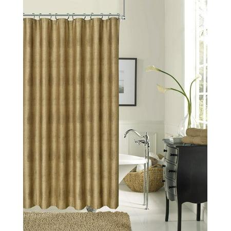 Dainty Home Crocodile Textured Fabric Shower Curtain