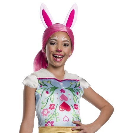 Enchantimals Bree Bunny Girls Wig With Ears Halloween Costume - Mean Girls Halloween Bunny