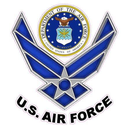 U s air force version 2 decal free shipping in the united for Air force decoration writing