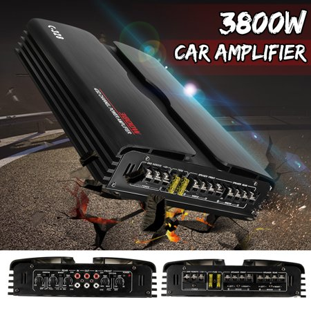 3800W 4/3/2 Channel High-Power Car Amplifier Stereo Audio Bass Subwoofer Amp 4Ω 24V AMP