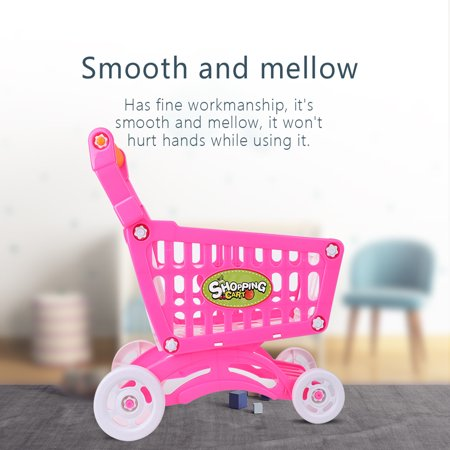 Ccdes Shopping Cart Toy,Kids Shopping Cart  Toy Children Pretend Role Play Food Fruits Playing Game,Children Shopping Cart Description:This lovely children's shopping cart is eco-friendly, safe and durable.Its rich accessories will satisfy baby's curiosity and imagination and develop their knowledge of different fruits, vegetables and snacks, etc.It brings great joy and different experience to the baby.Features:Adopt high quality ABS material, eco-friendly, non-toxic, safe to baby.Has fine workmanship, it's smooth and mellow, it won't hurt hands while using it.The handle is in moderate size and has comfortable hand feel, suits baby's hands perfectly.This shopping cart helps to develop baby's recognition of different fruits and vegetables.It can also cultivate baby's imagination and creativity, promote brain development.Specification:Condition: 100% Brand NewItem Type: Children Shopping CartMaterial: ABSOptional Type: Rosy Red, Rosy Red with Food, Blue with FoodSize: Approx. 27.5*30.5*20cm/10.83*12.01*7.87inWeight: Approx. 254-456gPackage Included:1 * Children Shopping Cart with AccessoriesNote:1. Monitors are not calibrated same, item color displayed in photos may be showing slightly different from the real object. Please take the real one as standard.2. Please allow 0~1 inch error due to manual measurement. Thanks for your understanding.