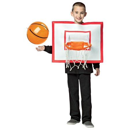 Basketball Hoop with Ball Child Halloween Costume, One Size, (7-10)