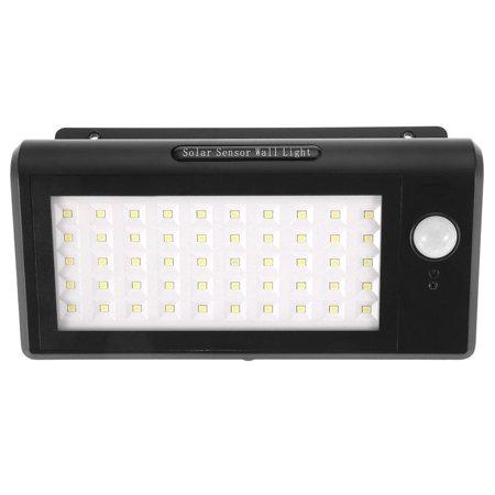 Image of LYUMO Solar Powered 50 LEDs IP65 Waterproof Human Motion Sensor Security Wall Light Black,solar lamp, solar light