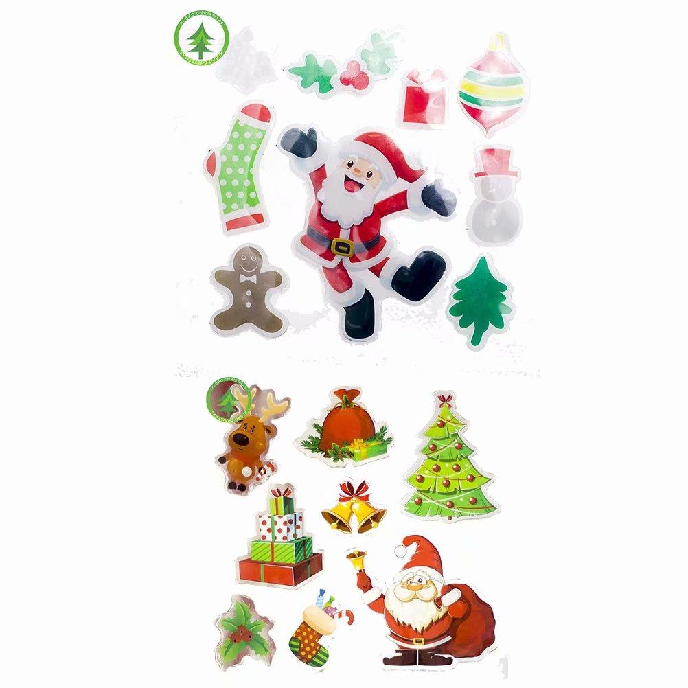 Akoyovwerve Christmas Living Room Xmas Santa Claus Snowman Wall Stickers Window Door Decor A