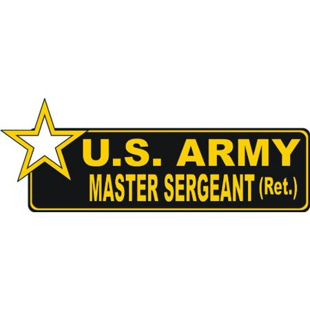MAGNET United States Army Retired Master Sergeant Bumper Magnetic Sticker Decal 6