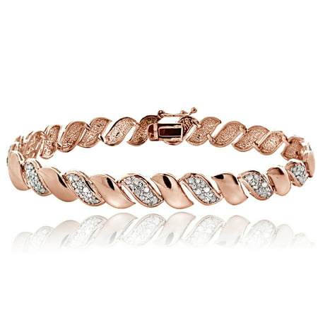 Rose Gold Tone 1/2 Ct Diamond San Marco (Section Gold Tone Bracelets)