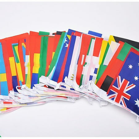 New 32 Flags String flag countries Banner Flags World Cup 32 teams Olympic games hanging flags ,Flag Banners for fence National Flag Country Team String Flags Polyester
