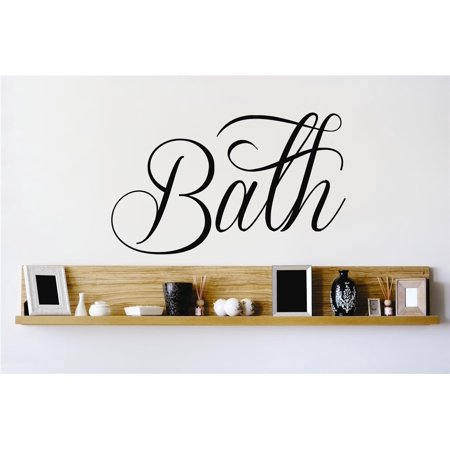 Do It Yourself Wall Decal Sticker Bath Lettering Tub Bathroom Quote M