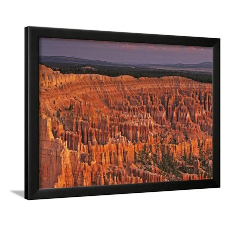 Bryce Canyon Amphitheater (View of the Hoodoos or Eroded Rock Formations in Bryce Amphitheater, Bryce Canyon National Park Framed Print Wall Art By Dennis Flaherty)