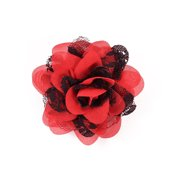 Expo Int'l Mary Kate Lace Chiffon Flower Brooch Pin and Hair Clip
