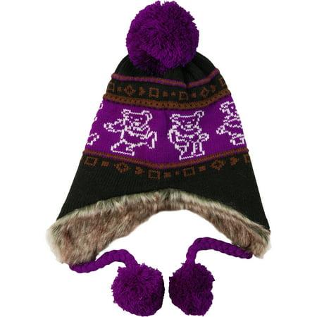 Grateful Dead Men's Dancing Bears Beanie Purple - Dead Fish Hat