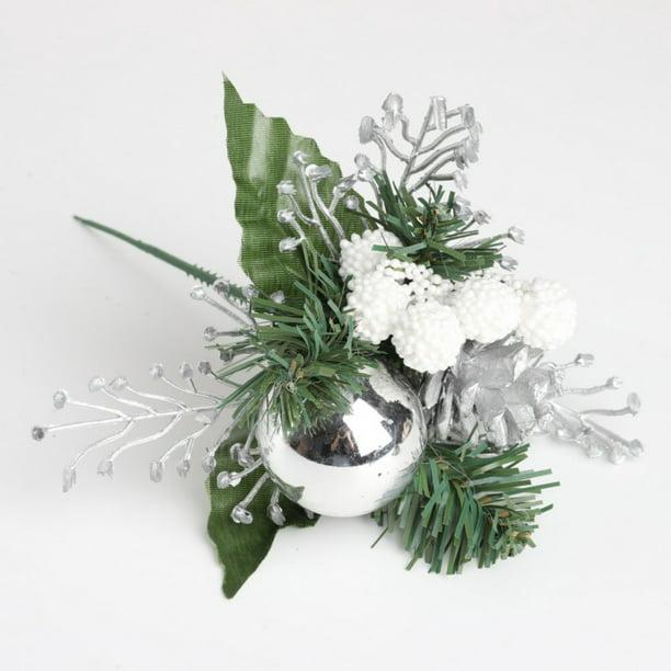 Artificial Pine Stems Fake Pine Cone Gift Box Christmas Flowers Ornament Flower Arrangements Wreath Holiday Walmart Com Walmart Com