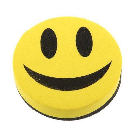 Magnetic Blackboard Whiteboard Eraser Wipe Dry Marker Cleaner School SmileFace  - image 1 of 5