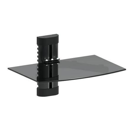 Preston Glass Shelf - GForce GForce DVD Player Shelf Wall Mount with Tempered Glass and Aluminum (1137)