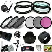 PRO 52MM Lens Filters + 52mm Lens Hood KIT for NIKON D750, D7200, D7100, D7000, D5500, D5300, D5200, D810, D810A, D610, D800, D600, D5100, D3300, D3200, D3100, D4S, D4, D3S, D3X D3 Cameras and Lenses