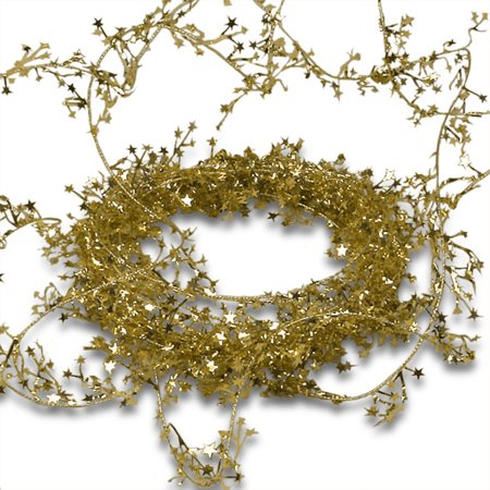 Gold Small Star Garland Christmas | Length - 30 ft. by Paper - Gold Star Garland
