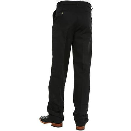 wrangler apparel mens  khaki riata flat front casual pant