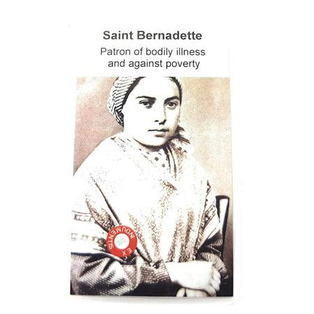 Bernadette Soubirous Lourdes (Relic Card 3rd Class Marie Bernarde Bernadette Soubirous Patron Bodily Illness Lourdes France Against Poverty People ridiculed for Their Faith Maria-Bernada Sobirós Patron de)
