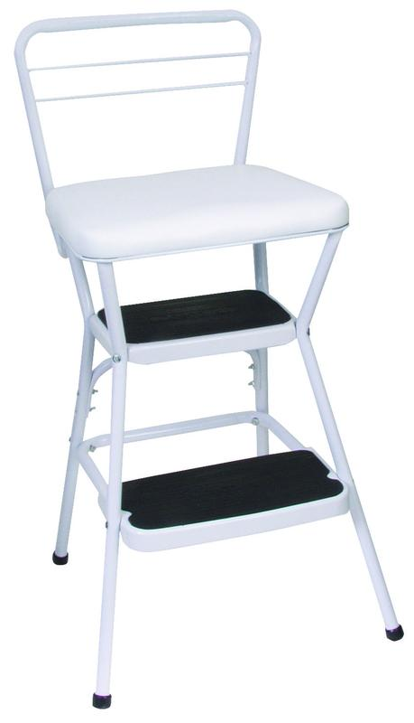 Cosco 11130WHT Counter Chair/Step Stool, 33.858 In H X 17.52 In W X