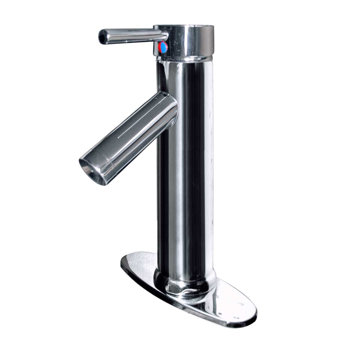 Single Hole Bathroom Sink Faucet Chrome Centerset Plate |...