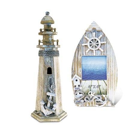 Nautical Decor Picture Frame and Lighthouse Decor ()