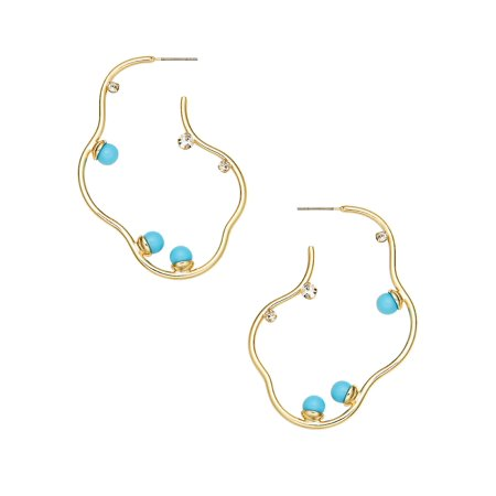 Goldtone Freeform Earrings