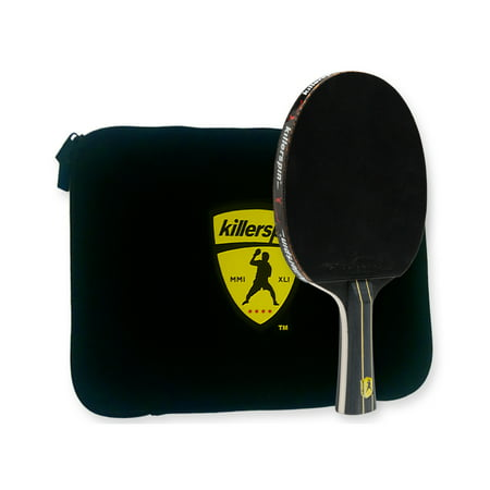 Killerspin JET Black Table Tennis Set including Compeititon Paddle with 5 Layer Wood Blade Nitrx-4Z