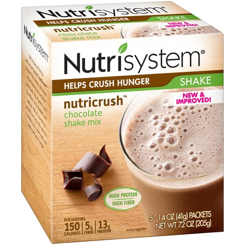Nutrisystem Nutricrush Chocolate Shake Mix, 1.4 oz, 5 count