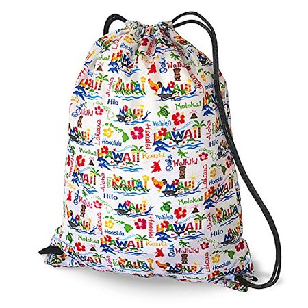Hawaiian Style Drawstring Backpack Adventures