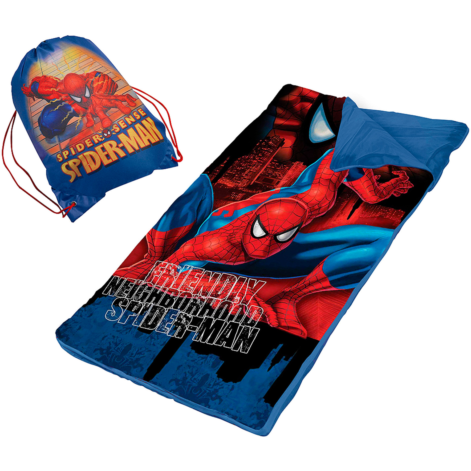Spider-Man Slumber Nap Mat with Bonus Sling Bag - Walmart.com