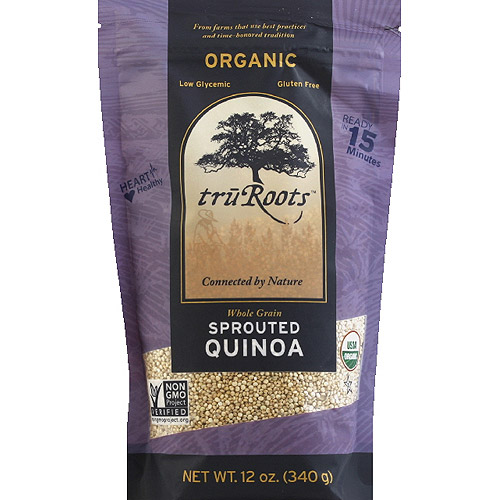 truRoots Organic Sprouted Quinoa, 12 oz, (Pack of 6)