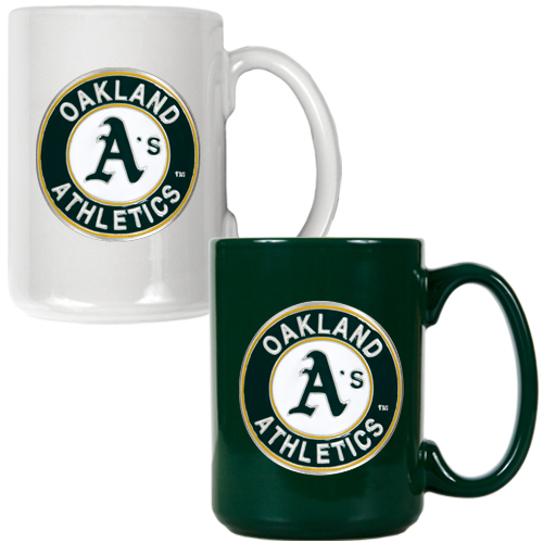 Oakland Athletics 15oz. Coffee Mug Set - No Size