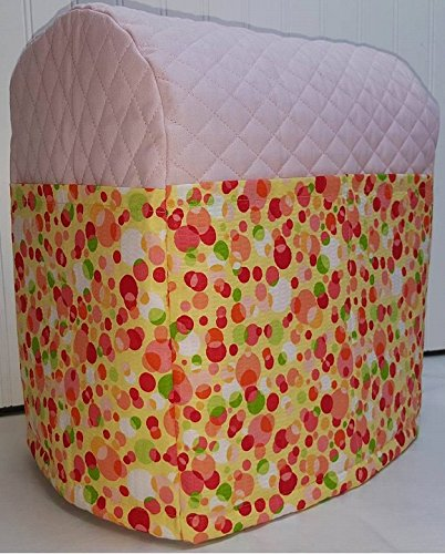 Polka Dots Cover for Kitchenaid 7 Quart Lift Bowl Stand Mixer (Pink)