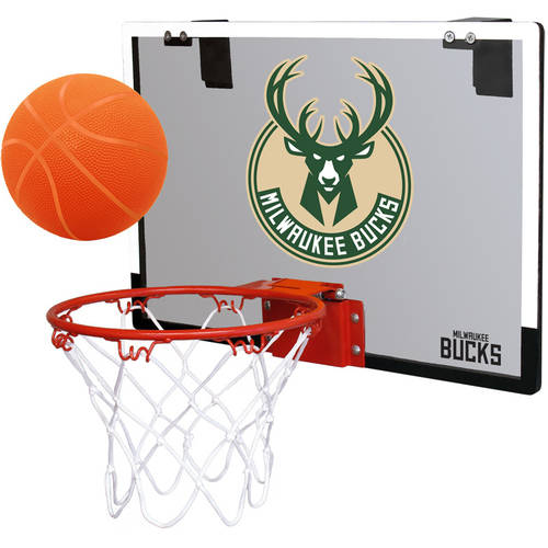 Rawlings NBA Game On Polycarb Hoop Set Milwaukee Bucks